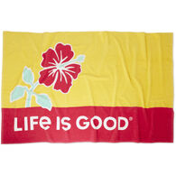 Life is Good Hibiscus Sun Beach Towel
