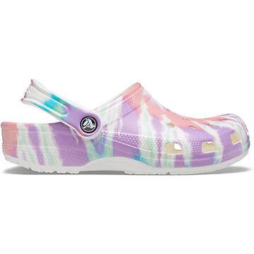 Crocs Womens Classic Tie-Dye Graphic Clog