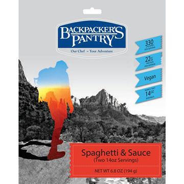 Backpackers Pantry Vegan Spaghetti & Sauce - 2 Servings