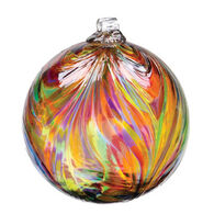 "Kitras Feathered 3"" Glass Ball"