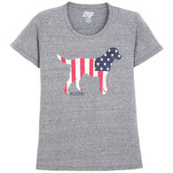 Lakeshirts Women's Blue 84 Kennel Club Lab Maine Short-Sleeve T-Shirt