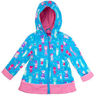 Stephen Joseph Toddler Girl's Cats And Dogs Rain Jacket
