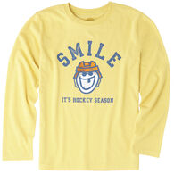 Life is Good Boys' It's Hockey Season Long-Sleeve Cool T-Shirt