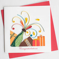 Quilling Card Congrats Celebration Card
