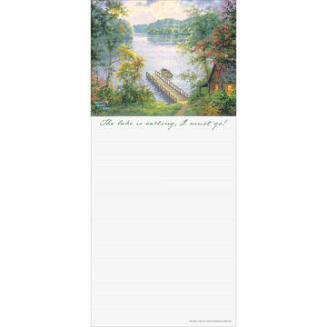 Pumpernickel Press Cabin By The Lake Magnetic List Notepad