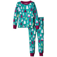 Hatley Girls' Tree PJ Set