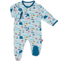 Magnetic Me Infant Boy's Oh Buoy Modal Magnetic Footie Pajama