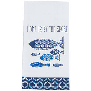 Kay Dee Designs Water's Edge Fish Flour Sack Towel