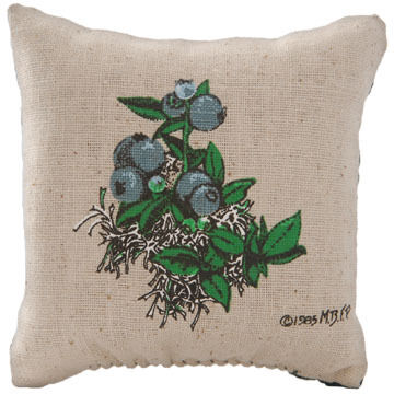 "Maine Balsam Fir 4"" x 4"" Blueberry Balsam Pillow"