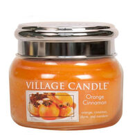 Village Candle Small Glass Jar Candle - Orange Cinnamon
