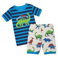 Hatley Toddler Boy's Friendly Dinos Organic Cotton Short-Sleeve Pajama Set