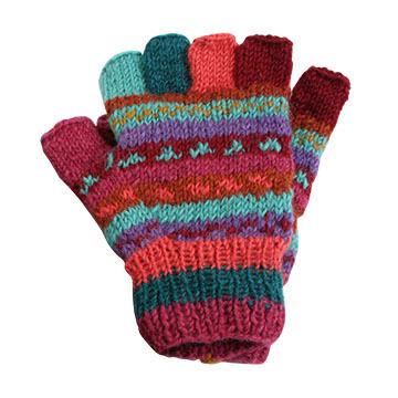 Lost Horizons Womens Fingerless Knit Glove