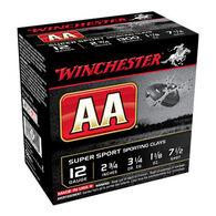 """Winchester AA Target 12 GA 2-3/4"""" 1-1/8 oz. #7-1/2 Shotshell Ammo (25)"""