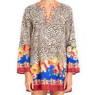 Johnny Was Women's Oksana Short Long-Sleeve Cover Up