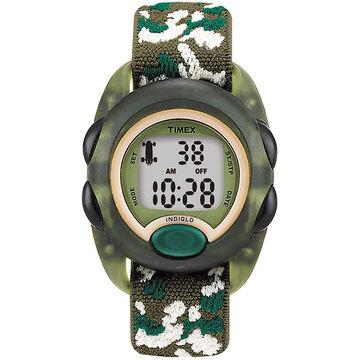 Timex Childrens Digital Elastic Fabric Strap Watch