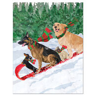 Allport Editions Dogs Toboggan Boxed Holiday Cards