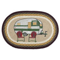 Capitol Earth Camper Oval Patch Braided Rug