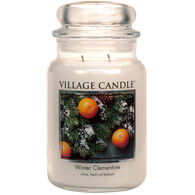 Village Candle Large Glass Jar Candle - Winter Clementine