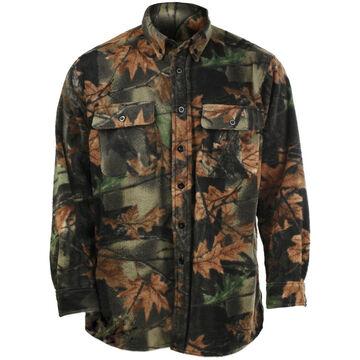 Trail Crest Mens Camo Chambliss Fleece Long-Sleeve Shirt