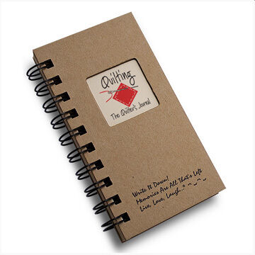 "Journals Unlimited ""Write It Down!"" The Quilters Mini Journal"