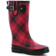 Western Chief Women's Dual Buffalo Plaid Rain Boot