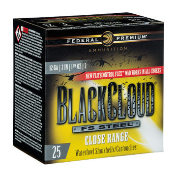 Federal Premium Black Cloud FS Steel Close Range 20 GA 3 1 oz. #4 Shotshell Ammo (25)