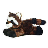 "Aurora Ringo Raccoon 8"" Plush Stuffed Animal"
