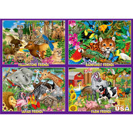 White Mountain Jigsaw Puzzle - Animal Friends