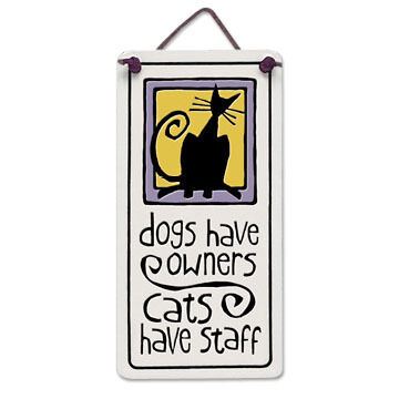 "Spooner Creek Designs ""Cats Have Staff"" Mini Charmers Tile"