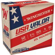 "Winchester USA VALOR Super X 12 GA  2.75"" 9 Pellet #00 Buckshot Ammo (25) - Limited Edition"