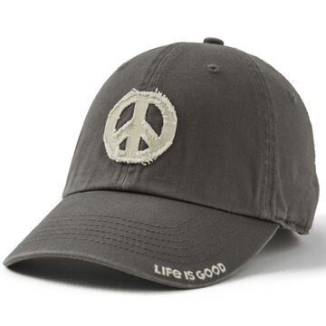 Life is Good Mens Peace Sign Tattered Chill Cap