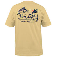 Salt Life Men's Wake and Bait Pocket Short-Sleeve T-Shirt
