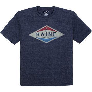 Lakeshirts Mens Blue 84 Lobster Short-Sleeve T-Shirt