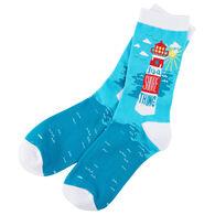 Hatley Little Blue House Women's It's a Shore Thing Crew Sock