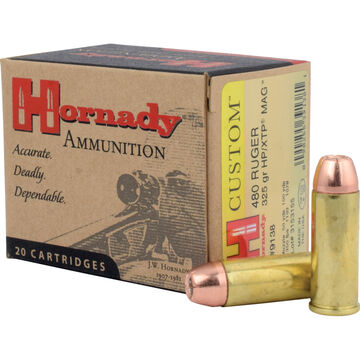 Hornady Custom 480 Ruger 325 Grain XTP Mag Handgun Ammo (20)