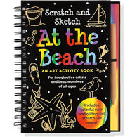 At the Beach Scratch & Sketch Trace-Along Art Activity Book