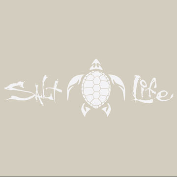 Salt Life Signature Turtle Decal - White