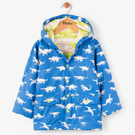 Hatley Boys' Color Changing Dinosaur Menagerie Classic Raincoat