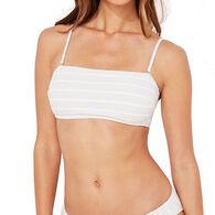 Vineyard Vines Women's Villa Shimmer Seersucker Bandeau Bikini Top