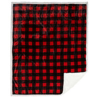 Carstens Inc. Lumberjack Plaid Plush Sherpa Fleece Throw Blanket