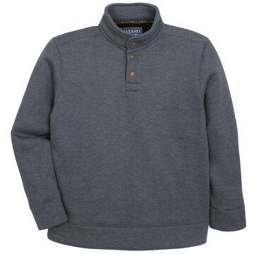 Maxxsel Mens Heavyweight Quarter Collar Fleece Shirt