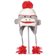 Knitwits Boys' & Girls' Cute Sock Monkey Animal Hat