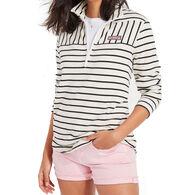 Vineyard Vines Women's Dreamcloth Striped Relaxed Shep Half-Zip Pullover