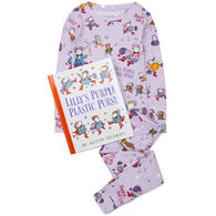 Books To Bed Lilly's Purple Plastic Purse Pajama & Book Set