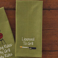 Park Designs Licensed To Grill Dish Towel