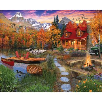 White Mountain Jigsaw Puzzle - Cozy Cabin
