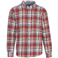 Woolrich Men's Trout Run Plaid Flannel Long-Sleeve Shirt