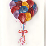 Quilling Card Balloons Gift Enclosure Card