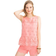 Southern Tide Women's Suri Scalloped Eyelet Tank Top