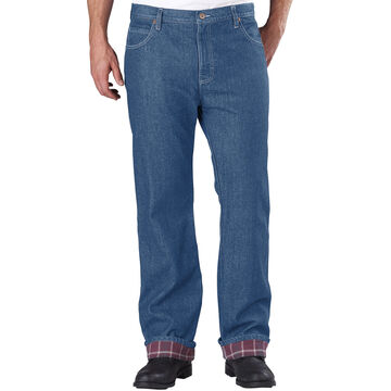 Dickies Mens Relaxed Fit Flannel-Lined Jeans